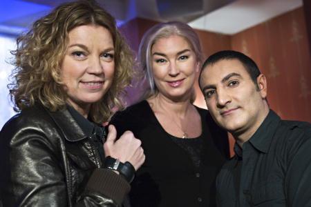 Fr v: Elisabeth Ohlson-Wallin, Eva Beckman och Mustafa. foto:Knut Koivisto
