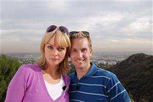 Kenny & vänner. Izabella Scorupco och Kenny Bräck.