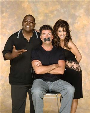 American Idol. Fr v: Randy Jackson, Simon Cowell och Paula Abdul. Foto: FOX/TV4.