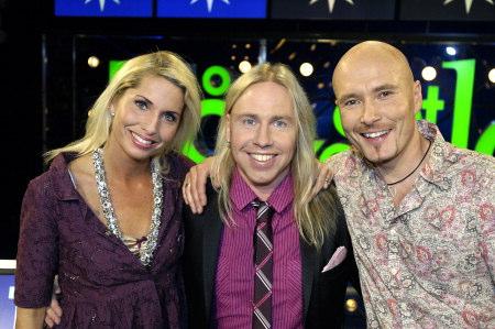 Så ska det låta Lag Stefan Gunnarsson (mitten) med Viktoria Tolstoy och Johan Boding. Foto: Carl-Johan Söder/SVT