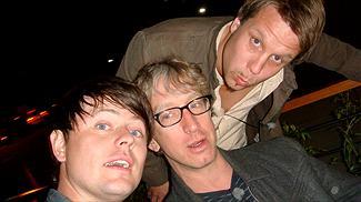 Fredrik Wikingsson, Andy Dick och Filip Hammar. Foto:Johan Ronthén/Kanal 5.