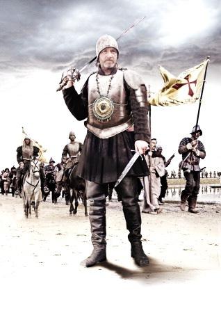 De stora krigarna: Hernan Cortés (Brian McCardie) och hans män. © Adam Wiseman/BBC