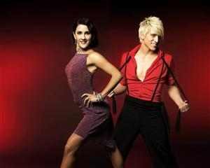Danny Saucedo och Jeanette Carlsson representerar Sverige i Eurovision dance contest foto TV4